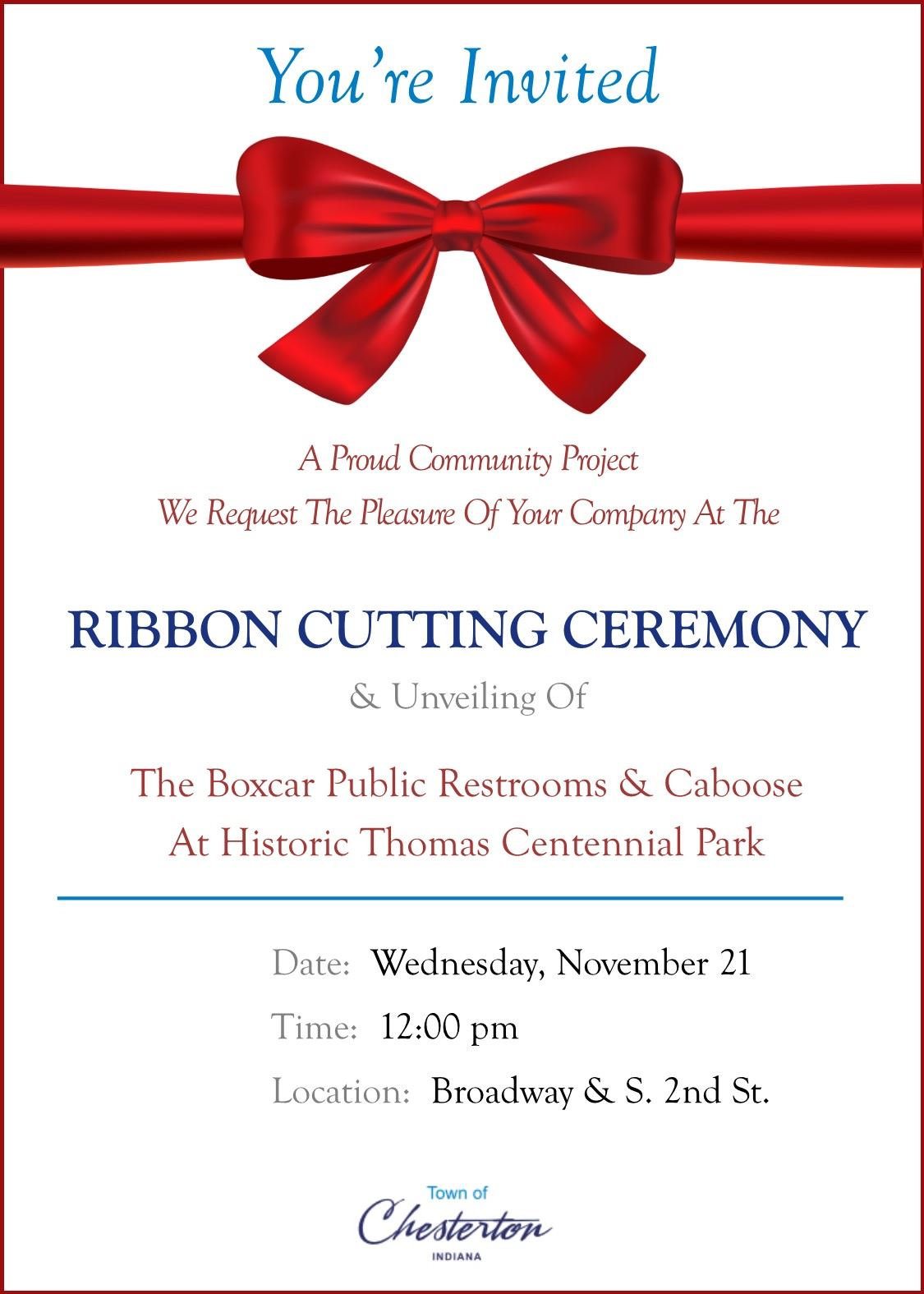Ribbon Cutting Invitation
